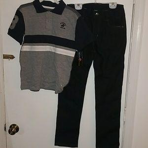 Boys polo pants set